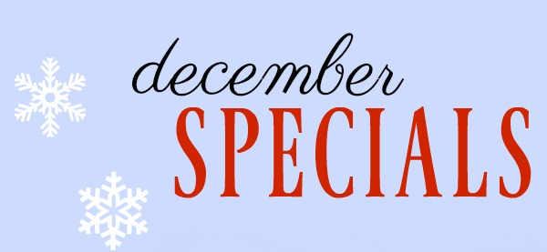 December Specials at Willow