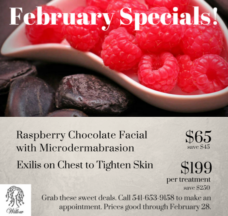 February Specials at Willow