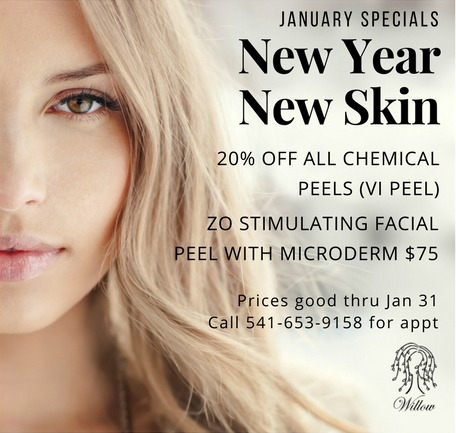 Willow Health and Aesthetics January Specials 2018