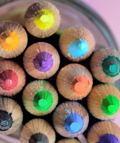 Pencils of all different shades