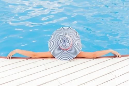 Woman Enjoying the Pool